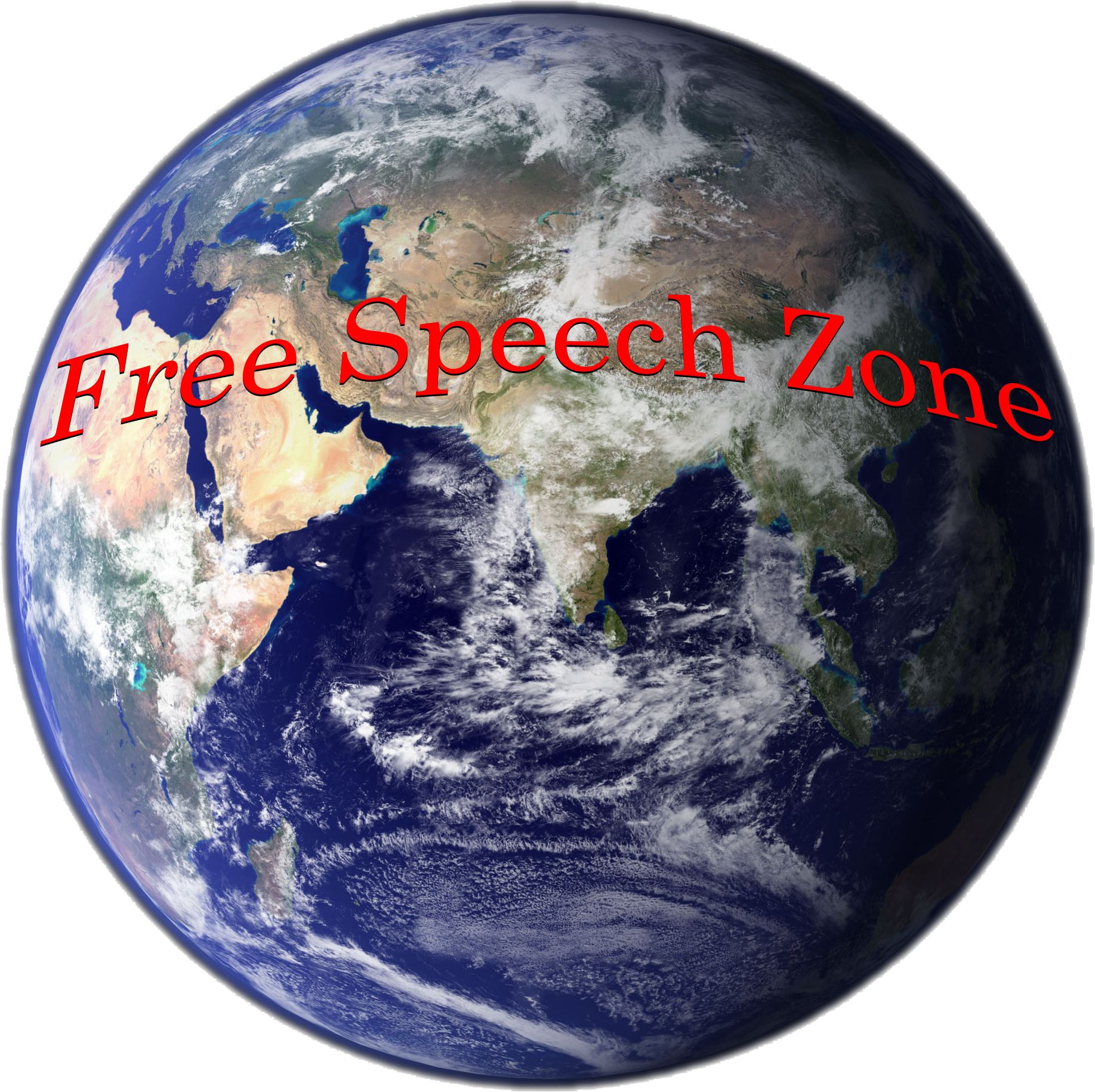 Free Speech Zone: A Picture of the planet Earth
